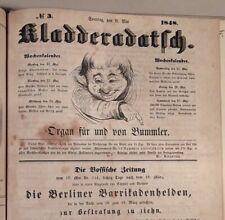 KLADDERADATSCH: Konvolut 70 Nummern 1848 / 1849 / 1850 / 1859 + Flugblätter