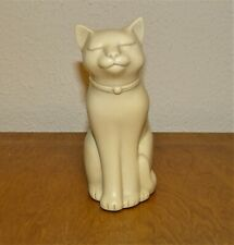 "4"" CAT FIGURINE IVORY COLORED FIGURE~BEAUTIFUL!"
