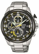 Pulsar Sports Collection Gents Stainless Steel Solar Chronograph Watch PZ6 003