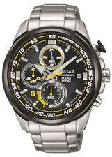 Pulsar WRC Solar Power Mens Chronograph Bracelet Watch PZ6003X1
