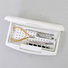 Pro Nail Sterilizer Tray Disinfection Pedicure Manicure Sterilizing Box HR