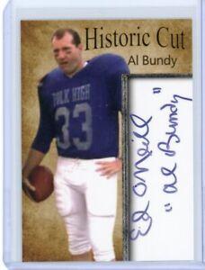 AL BUNDY POLK HIGH LIMITED EDITION FACSIMLE AUTOGRAPHED FOOTBALL CARD ..