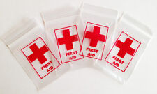 100 First Aid Printed Ziplock Baggies Baggy Bags Smell Proof 40mm x 60mm