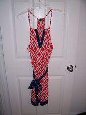 Ladies Red/White Dress with Navy Trim - Size L - Mud Pie Brand - New with Tags