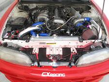 CXRacing Aluminum Radiator For S14 KA24 95-99 240SX 2 ROWS