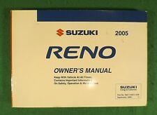 2005 05 Suzuki Reno Owners Manual  Near New S3