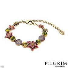 PILGRIM SKANDERBORG Bracelet With Genuine Crystals and Multicolored Enamel