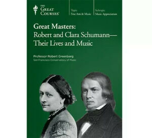 The Great Courses Great Masters: Robert & Clara Schumann NEW CD's & Book