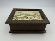 """Vintage Reuge Music Box Jewelry Swiss Musical Movement Plays """"As time goes by"""""""