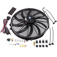 """16"""" 3000 CFM Elektrischer Kühlerlüfter Thermostat Verdrahtung Schalter Relais"""