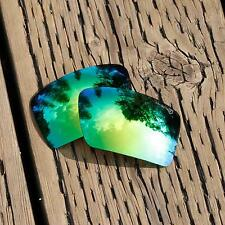 Walleva Mr.Shield Polarized Replacement Emerald Lenses for Oakley Eyepatch 2