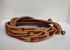 Brown Double Wrap Men's Leather Bracelet  Wristband