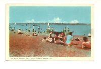 THE BEACH, CANATARA PARK, SARNIA, ONTARIO, CANADA VINTAGE POSTCARD