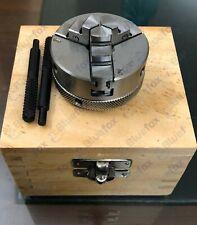 50 Mm 3 Jaw Mini Lathe Chuck Self Centering Dia M12 X 1 Unimat Thread Wooden Box