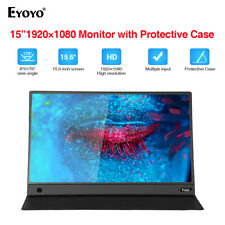 """15.6"""" IPS HDMI Big Screen Monitor 1080P HDR NTSC 72% Gamut with Case for X-box"""