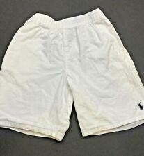Polo Ralph Lauren Boys White Shorts Size 7 Pony Elastic Waist Pull On Pockets