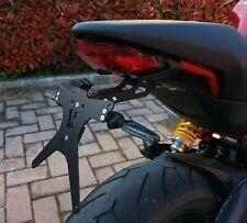Portatarga Regolabile Ducati Monster 797 821 1200 1200S Supersport + Luce targa