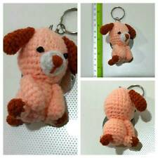 CHRISTMAS GIFTS DOG #1 POOCH CANINE SEAT ORANGE KEYCHAINS CROCHET DIY HAND CRAFT