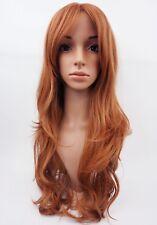 W96 LIGHT Ginger Mix Biondo Rame Donna Parrucca Lungo Ondulato aspetto naturale della pelle TOP