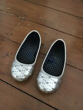 Monsoon Girls Silver Shoes Size 9