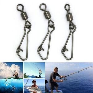 Snap Fishing Hook Rolling Swivel Fishing Bearing Swivels Connector Tackle