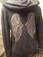 Victorias Secret Angel Wings Sequin Hoodie Blue Medium