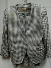 """Ladies Ashley Brooke """"Houndstooth"""" wool blend two piece suit. Size 14"""