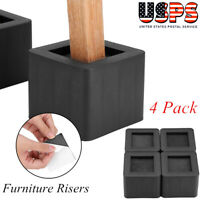 """4Pcs/Set 3"""" Furniture Risers Adjustable Bed Table Chair Riser Utopia Bedding US"""