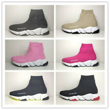 New Womens Mens Designer Style Knit Speed Sock Runner Trainers Sneakers shoes UK