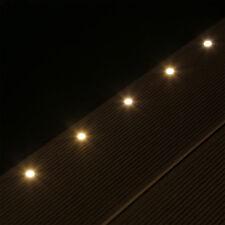 Set 10 mini LED Boden Einbauleuchten Edelstahl Einbaustrahler Terrasse Treppe