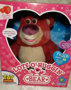 Toy Story Lot-O-Huggin Bear Talks 45 Phrases Scented New In Box