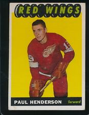 1965/66 TOPPS PAUL HENDERSON   VG/EX  DETROIT RED WINGS #51  ROOKIE CARD    417H