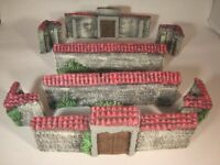 B9 Unpainted STONE WALLS  28mm For wargame scerney and terrains. 40k WW2