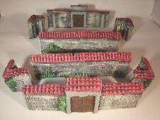 B9 painted STONE WALLS  28mm For wargame scerney and terrains. 40k WW2