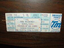 Paul McCartney unbenutzt Konzert Ticket Giants Stadium 1990 Beatles Freunde Erde