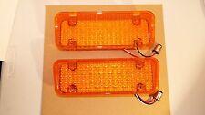 71 72 1971 1972 CHEVROLET & GMC TRUCK 34 LIGHT LED  AMBER PARK LAMP LIGHT LENS