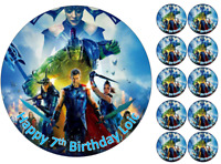 "7.5"" cake & cupcake toppers edible wafer/icing sheet Marvel Thor personalised"