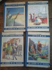 Lot de 4 livres collection les loisirs de la jeunesse 1938 Eyrimah Campagnat le