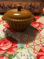 Savino Designs China Sugar Bowl/Small Casserole Dish W/Handles Holds 16 Ounces