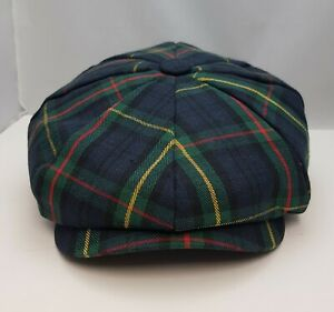 Scottish Tartan  Tweed Hat Mens Gatsby Newsboy 8 Panel, Peaky Blender Hat UK .
