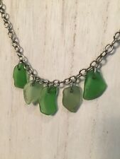 One of a Kind! Genuine Green Sea Glass Necklace