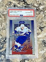 1996 Leaf Limited Brett Hull #24 Auto PSA/DNA Slabbed Authentic St Louis Blues