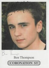 Coronation Street T Uncertified Original TV Autographs