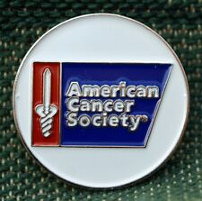 """RARE_Limited Edition_  American Cancer Society  1"""" Ni-Silver Plated Ball Marker"""