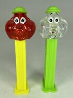 Bubbleman Crystal Neon Stems 4.9 Hungary Pez Dispensers Lot of 2