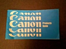 Vintage Canon Products Guide PUB NO A5077h  0467N30 Printed in Japan 65 pages