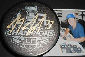 Tyler Toffoli LA Kings Autographed Signed 2014 Stanley Cup Champs Puck H1