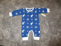 DJ & LuLu Baby Boys One Piece Jersey Knit Blue Jumpsuit Outfit Size 3 Mo NEW NWT