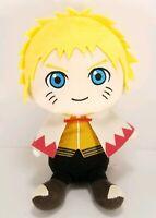 """Boruto Naruto Plush Stuffed Anime Toy Yellow Hair With Cape 9"""" Beanie Banpresto"""