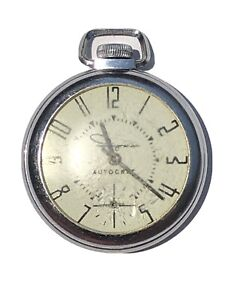 Vintage Ingraham Autocrat Mechanical Pocket Watch